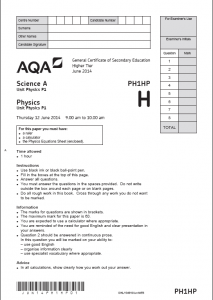 Answer for question 4 on this aqa a.s physics past paper?