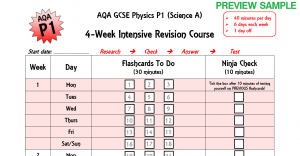 AQA-P1-Intensive-4wk-Planner-SAMPLE