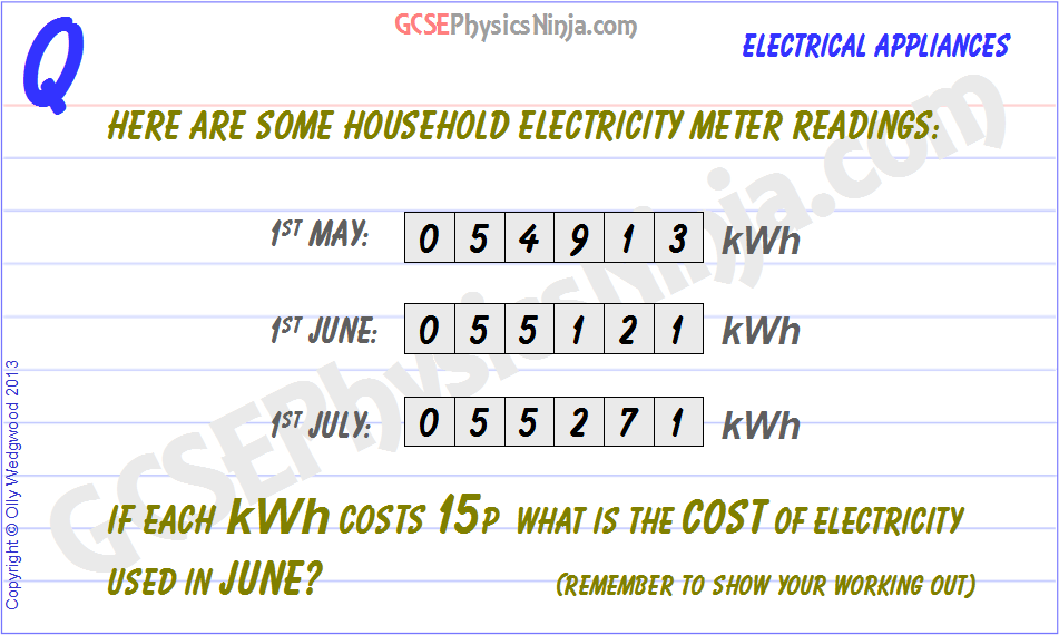 29 Electricity Meter Reading Calculation Gcsephysicsninja Com