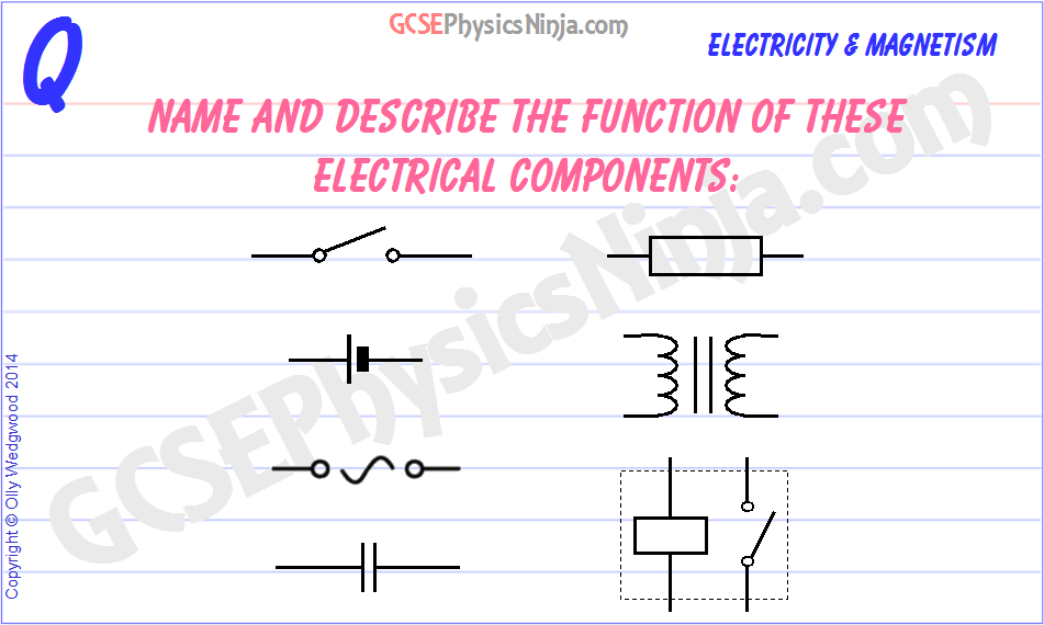 36  Electrical components (part 1) - GCSEPhysicsNinja com