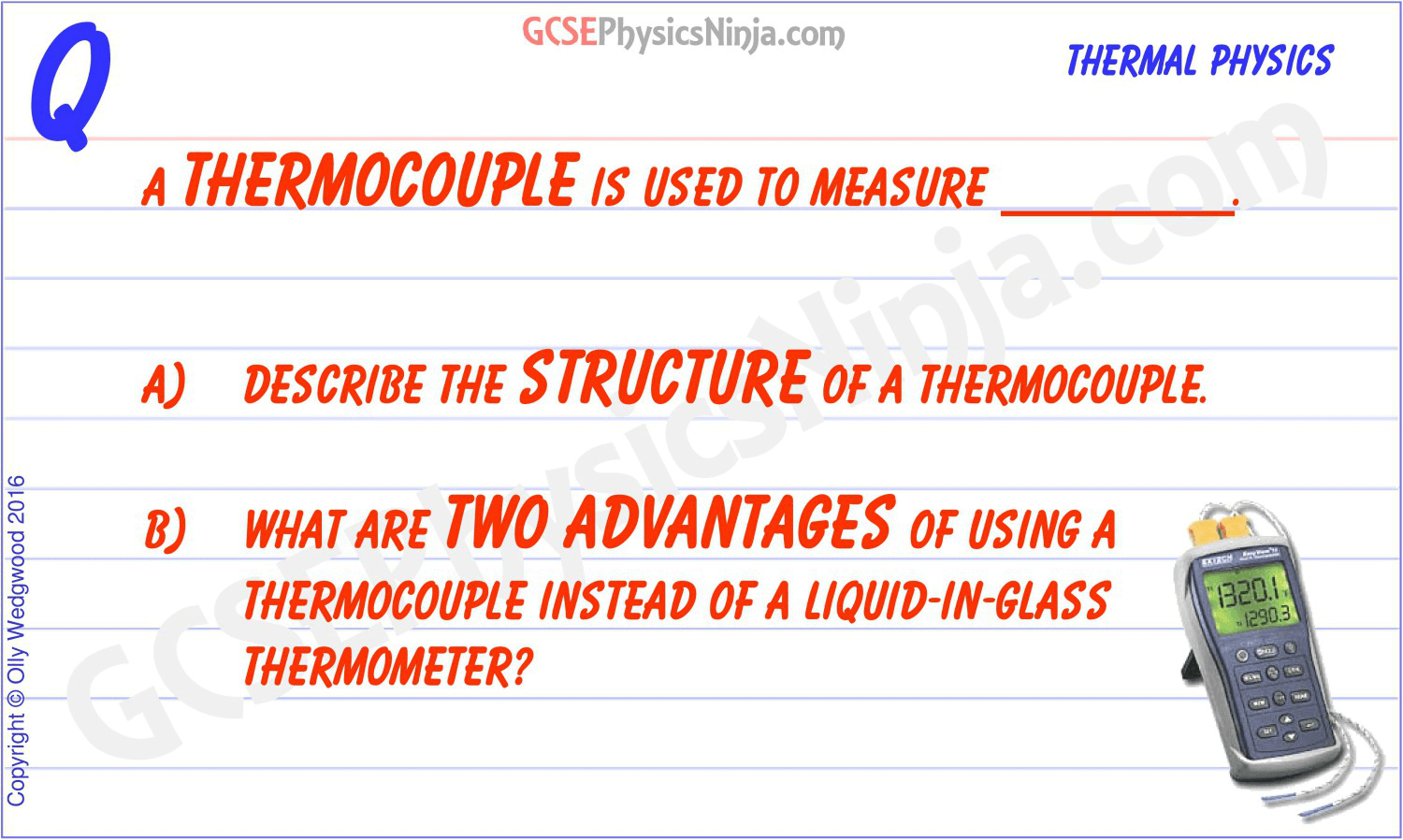 17  Structure and advantages of a thermocouple