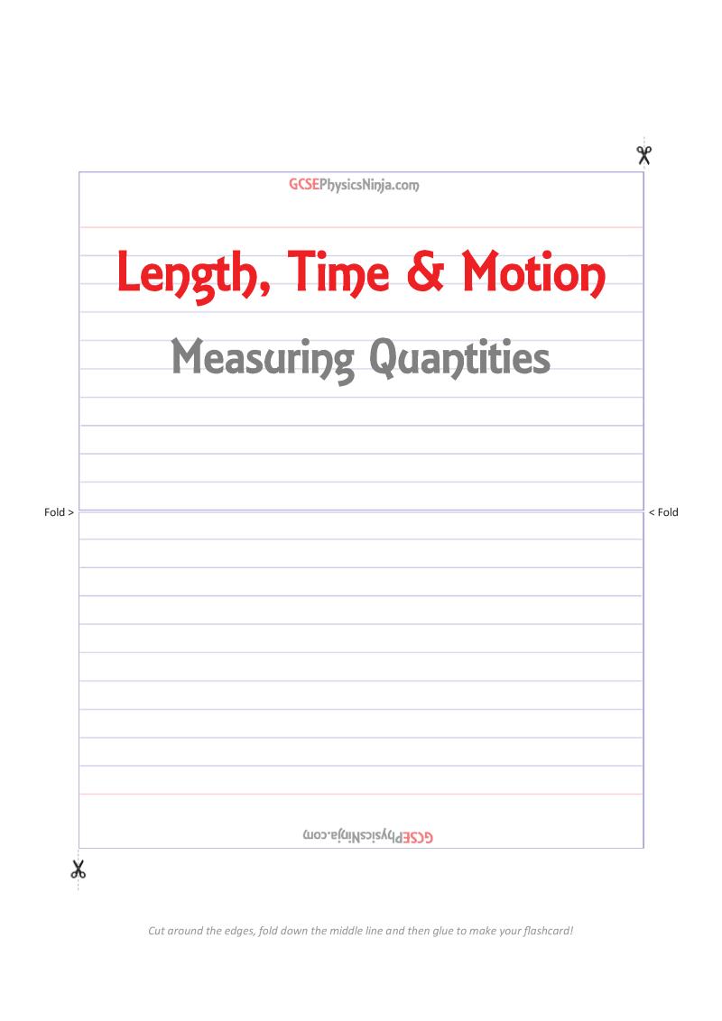 worksheet Time Flashcards length time motion 34 flashcards gcsephysicsninja com flashcards
