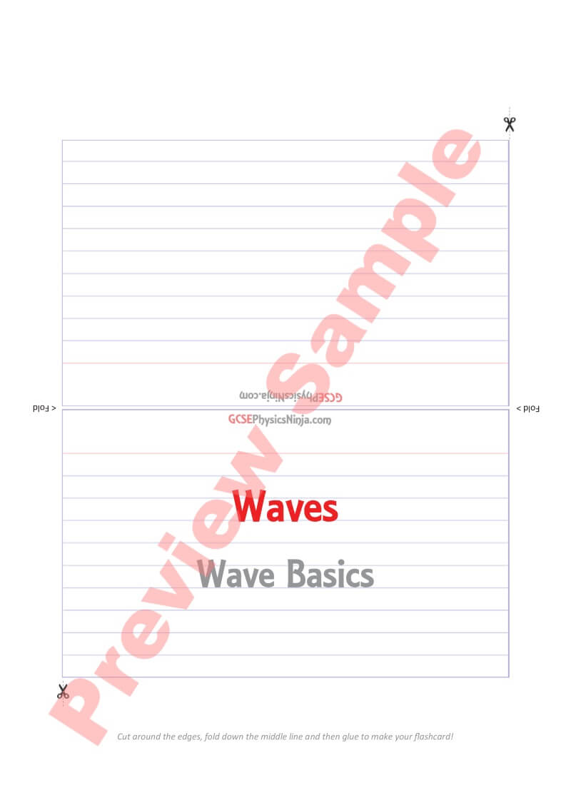 Waves - 70 Flashcards (For Schools)