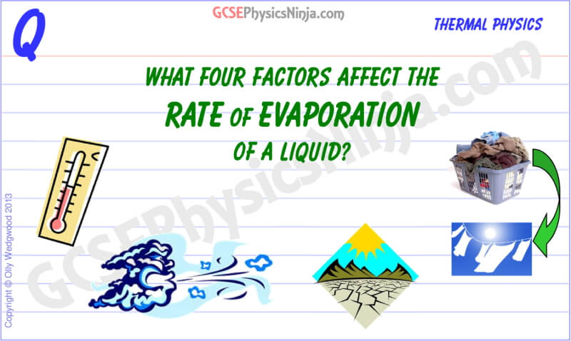 Rate of Evaporation Flashcard
